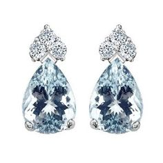 Oh, forgive my drool.  These take my breath away! 1.72 cttw Tommaso Design(tm) Genuine Aquamarine Earrings in 14 kt White Gold