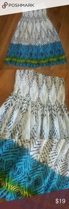 NEW!!!! Ethnic Print Summer Dress Super breezy & flowy cotton lined summer dress or skirt Sz 1X Dresses