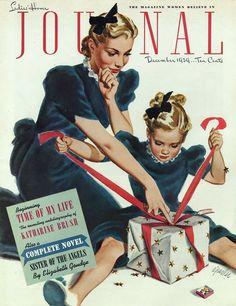 Parker, Al (b,1906)- Wrapping Presents- 'Ladies Home Journal'- Dec. 1939