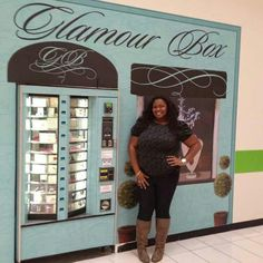 Glamour Box vending machine at the Baldwin Hills Crenshaw Mall. Awesome Idea!