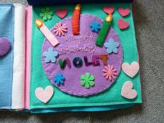 Cake quiet book page-do for birthday month?  for seasons quiet book.