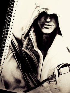 Pencil of Ezio - Assassin's Creed Assassins Creed Dibujos, Tatuajes Assassins Creed, Arte Assassins Creed, Assassins Creed Tattoo, Drawing Sketches, Pencil Drawings, Art Drawings, Desenho Do Assassin's Creed, Alex Mercer
