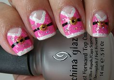 Mrs. Claus! Colores de Carol! omg so freaking cute! Adorable Manicure