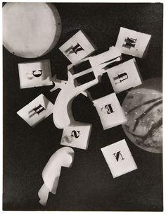 Gun with Alphabet Stencils, 1924 Man Ray.