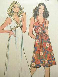 1970s McCalls 3476 Womens Knit Maxi Dress Pattern by EmSewCrazy   Elegant summer dress