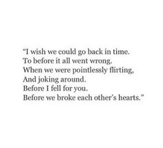 I really wish