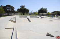 Camarillo Skatepark - Big area, spread out, Lots of nice banks a really killer reservoir-type bowl with a channel.