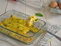 Cannelloni di uova con prosciutto e formaggio, ricetta secondo veloce