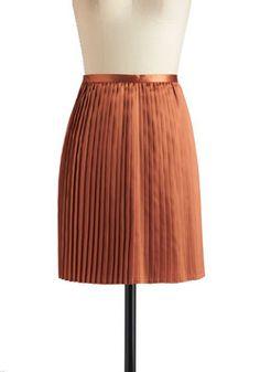 Satin and Spice Skirt, #ModCloth