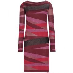 Emilio Pucci Printed Wool-Blend Dress ($950) ❤ liked on Polyvore featuring dresses, red, emilio pucci dress, red dress and emilio pucci