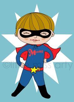 bild fürs kinderzimmer - personalisierbar von *little miss arty*  - illustrationen auf DaWanda.com