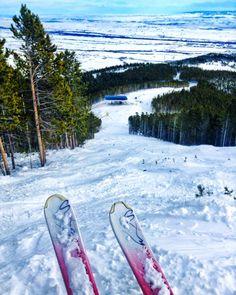 Skiing Red Lodge Mountain, MT. #redlodgemountain