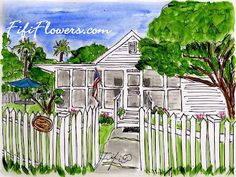 Fifi Flowers paints  Another Island Cottage