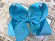 Excited to share this item from my #etsy shop: Hair Bows Hair Bows Large Hair Bow Girls Hair Bows Hair Bow Big Hair bows Big Hair Bow Big Bows Blue Hair Bows Huge Uniform Hair Bows