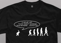 Evolution of Man Funny  NEW  T Shirt Humor Black Tee   S - 5XL  #SOLS #BasicTee