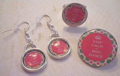 Irish St Patricks Day Dance Inspired Image Silver by SweetieBeads, $15.00