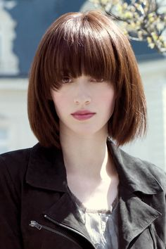 bob with bangs... the color