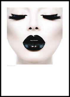 Zwart-witte Chanel poster...