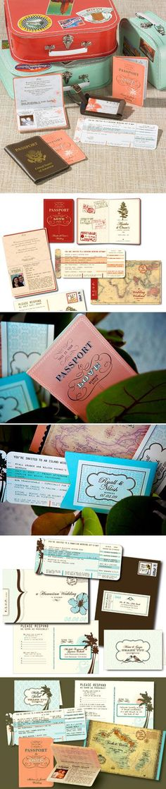 Travel themed destination wedding invitations from Inkbox Design Boutique