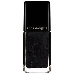 Nail Varnish in Swarm - Black Glitter, Gloss Finish