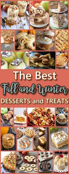 The BEST Fall Harvest and Winter Desserts & Treats Recipes - Apple, Cinnamon, Caramel and Pumpkin Holiday Treats {Perfect for Your Thanksgiving Dessert Table and Christmas Holiday Party Trays}