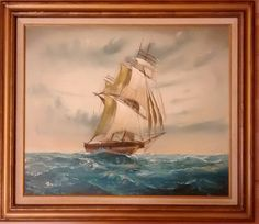 Oil Painting of Ship by Brian Pak by ClassyKassie on Etsy