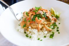 Crock Pot Chicken Peanut Curry | Honey Ghee and Me