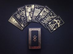 Golden Thread Tarot Deck tarot cards modern tarot by Milkmusket