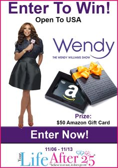 Enter To Win @YourLifeAfter25's #HotTopics With @WendyWilliams's #Giveaway! #ad >