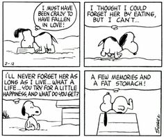 Snoopy, in love. :)