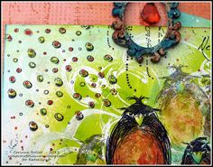 Les folies de Coco... A funny board with new KTZ145 - Grumpy Pinguins, KTZ147 - Texture Droplets, ..