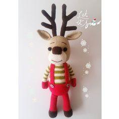 """42 Beğenme, 1 Yorum - Instagram'da I love amigurumi❣Bursa (@ozlems.crochet): """"Bu yakisikli geyik yavrusu beni baya ugrastirdi😣 Bu arada tekrar kar yagsa ne guzel olurdu⛄❄☃…"""""""