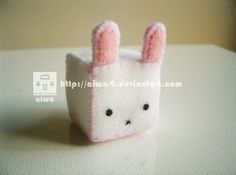 Cubed Bunny Plush   •  Free tutorial with pictures on how to make rabbit plushie in under 50 minutes