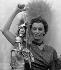 Sophia Loren in Italy, 1958.