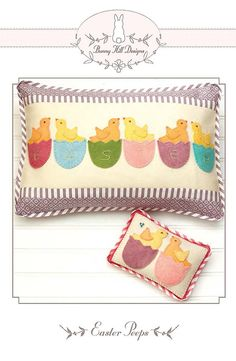 PATTERN EASTER PEEPS Pillow and Pin by DorothyPrudieFabrics