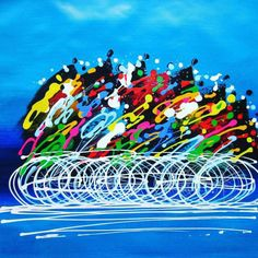 I never understood how splattered paint on a canvas was considered art or why anybody would pay for it. But this right here speaks to me. Group ride!  by leggycyclist http://ift.tt/1j89Op4