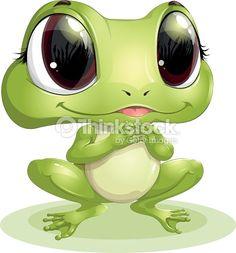 Beautiful Frog With Big Eyes Vector Art | Thinkstock