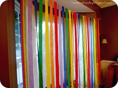 Rainbow party streamers