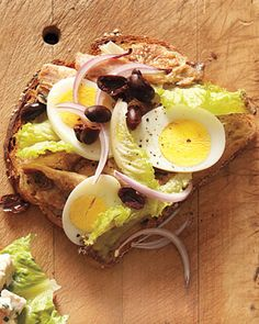 Change up your lunchtime sandwich: Sardine and Hard-Boiled Egg on Multigrain Toast, Wholeliving.com #healthylunches