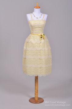 1950 Butter Lace Vintage Wedding Dress