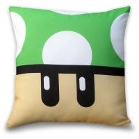 Almofada Geek Gamer Cogumelo Verde 1 Up