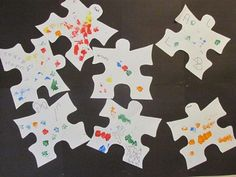 Puzzle piece paintings