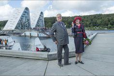 La reine Margrethe II de Danemark et le prince Henrik à Vejle, le 2 septembre 2015