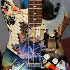 Pink Floyd Album Covers Guitar...Art on Art