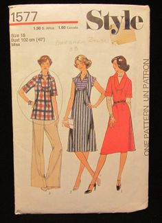 Items similar to 1976 -Vintage Style Pattern Misses Dress of Top -size 18 on Etsy Vintage Style, Vintage Fashion, Vintage Sewing Patterns, Pattern Fashion, Patterns, Fashion Vintage, Preppy Fashion, Preppy Fashion, Vintage Inspired