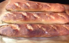 Baguettes! Rustic and homemade. Simple step-by-step instructions. I've always wanted to try these at home!