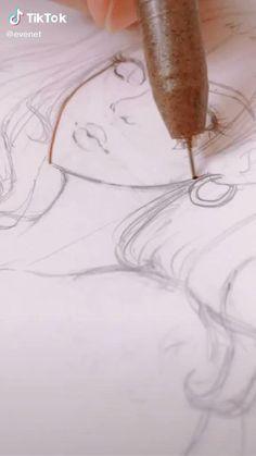Art Drawings Sketches Simple, Pencil Art Drawings, Pretty Art, Cute Art, Cartoon Art Styles, Diy Canvas Art, Marker Art, Art Tips, Art Sketchbook