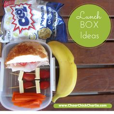 Some more lunch box inspo from Cheer Chick Charlie.  Half a cheesy roll with ham, cheese and tomato; plus cheese and tomato sticks; carrot sticks; fruit and some popcorn.  That's fruit boost, recess and lunch covered!  #lunchbox #lunchboxlegend #cheerchickcharlie #Charliesupersnacks #school #health #fitness