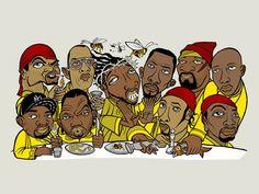 Wu Tang Clan - Hip Hop Art - www.loyallisteners.net