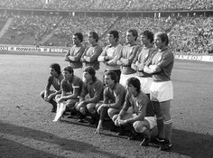 Azzurri to face Germany in October, 1977. Claudio Gentile, Franceso Graziani, Dino Zoff, Roberto Bettega, Roberto Mozzini, Romeo Benetti; Franco Causio, Giacinto Facchetti, Giancarlo Antognoni, Renato Zaccarelli, Marco Tardelli.